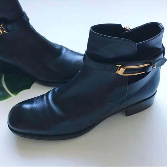 Tod's Shoes - TODS | LEATHER | ANKLE | GOLD BUCKLE | BOOTS | O4